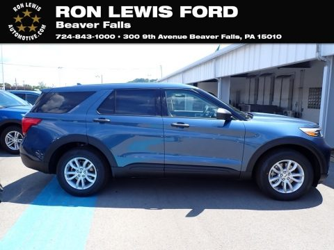 Blue Metallic Ford Explorer 4WD.  Click to enlarge.