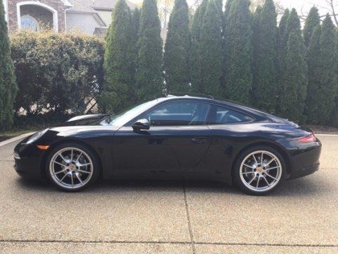 Black Porsche 911 Carrera Coupe.  Click to enlarge.
