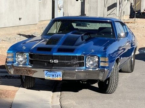 Blue Chevrolet Chevelle SS Coupe.  Click to enlarge.