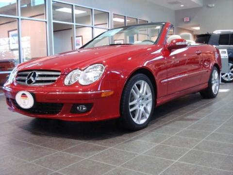 Mercedes Benz Clk 2008. Mars Red 2008 Mercedes-Benz