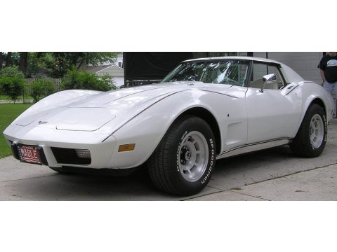 Classic White Chevrolet Corvette Coupe.  Click to enlarge.