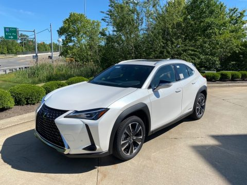 Eminent White Pearl Lexus UX 250h AWD.  Click to enlarge.