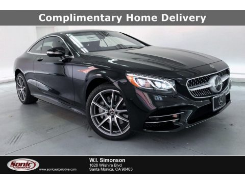 Obsidian Black Metallic Mercedes-Benz S 560 4Matic Coupe.  Click to enlarge.
