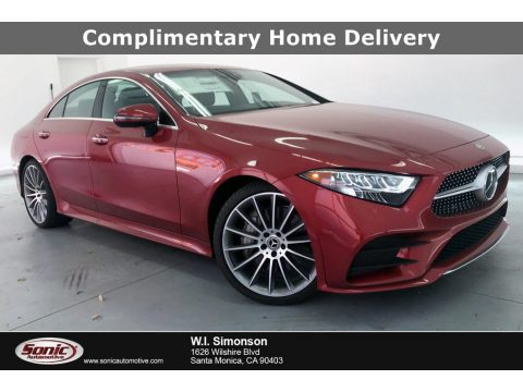 designo Cardinal Red Metallic Mercedes-Benz CLS 450 Coupe.  Click to enlarge.