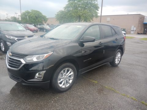 Mosaic Black Metallic Chevrolet Equinox LS AWD.  Click to enlarge.