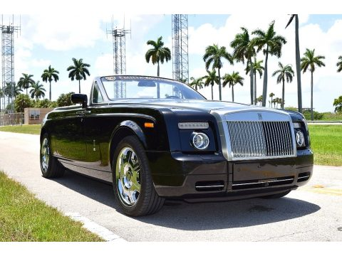 Diamond Black Rolls-Royce Phantom Drophead Coupe .  Click to enlarge.