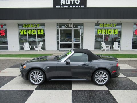 Grigio Moda Meteor Grey Fiat 124 Spider Lusso Roadster.  Click to enlarge.