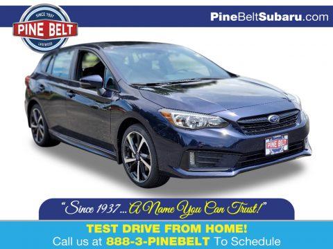 Dark Blue Pearl Subaru Impreza Sport 5-Door.  Click to enlarge.