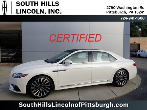 White Platinum Lincoln Continental Black Label AWD.  Click to enlarge.