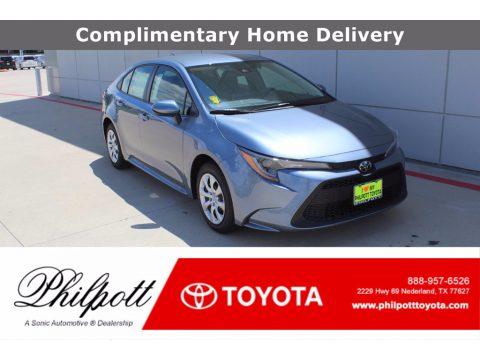 Celestite Gray Metallic Toyota Corolla LE.  Click to enlarge.