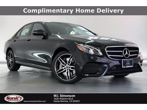 Obsidian Black Metallic Mercedes-Benz E 450 4Matic Sedan.  Click to enlarge.