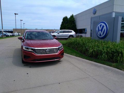 Aurora Red Metallic Volkswagen Passat SEL.  Click to enlarge.