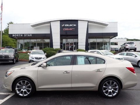 Champagne Silver Metallic Buick LaCrosse Leather.  Click to enlarge.