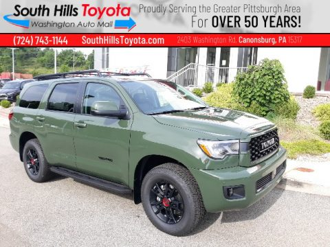 Army Green Toyota Sequoia TRD Pro 4x4.  Click to enlarge.