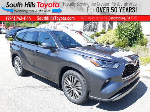 Magnetic Gray Metallic Toyota Highlander Platinum AWD.  Click to enlarge.