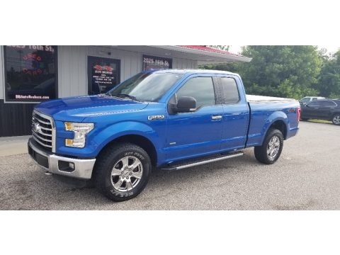 Blue Flame Metallic Ford F150 XLT SuperCab 4x4.  Click to enlarge.