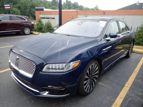 Rhapsody Blue Lincoln Continental Black Label AWD.  Click to enlarge.