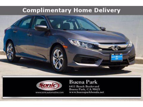 Sonic Gray Pearl Honda Civic LX Sedan.  Click to enlarge.