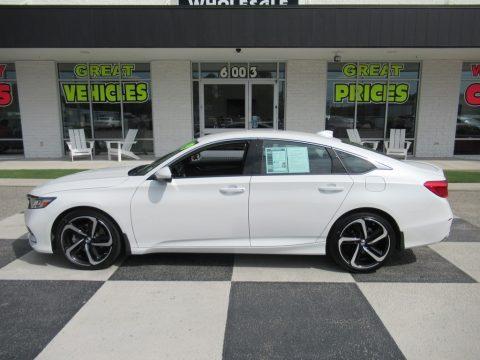 Platinum White Pearl Honda Accord Sport Sedan.  Click to enlarge.