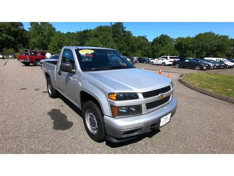 Sheer Silver Metallic Chevrolet Colorado Work Truck Regular Cab.  Click to enlarge.