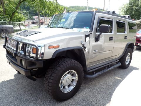 Pewter Metallic Hummer H2 SUV.  Click to enlarge.