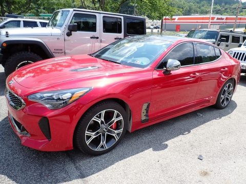 HiChroma Red Kia Stinger GT2 AWD.  Click to enlarge.