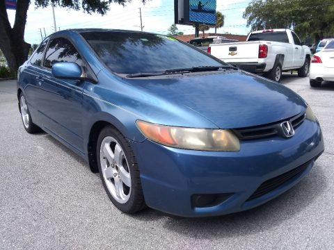 Atomic Blue Metallic Honda Civic LX Coupe.  Click to enlarge.