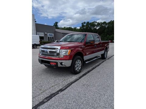 Ruby Red Metallic Ford F150 XLT SuperCrew 4x4.  Click to enlarge.