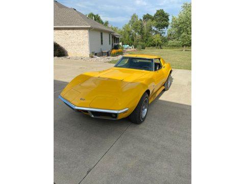 Daytona Yellow Chevrolet Corvette Coupe.  Click to enlarge.