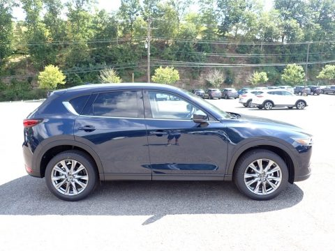 Deep Crystal Blue Mica Mazda CX-5 Grand Touring AWD.  Click to enlarge.