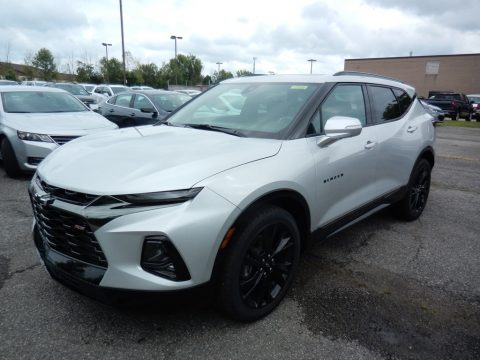 Silver Ice Metallic Chevrolet Blazer RS AWD.  Click to enlarge.