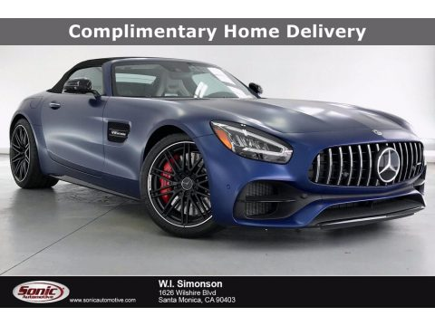designo Brilliant Blue Magno (Matte) Mercedes-Benz AMG GT C Roadster.  Click to enlarge.