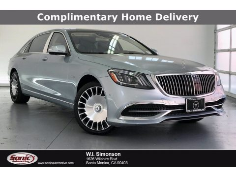 Diamond Silver Metallic Mercedes-Benz S Maybach S560 4Matic.  Click to enlarge.