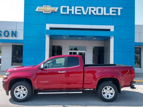 Cherry Red Tintcoat Chevrolet Colorado WT Extended Cab.  Click to enlarge.