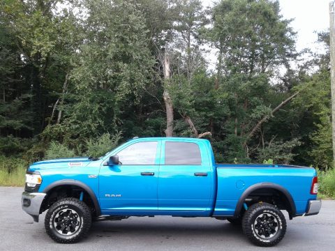 Hydro Blue Pearl Ram 2500 Power Wagon Crew Cab 4x4.  Click to enlarge.