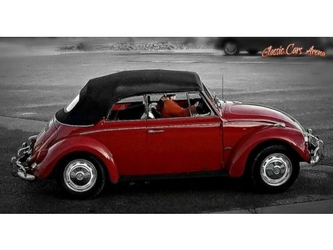 Ruby Red Volkswagen Beetle Convertible.  Click to enlarge.