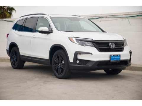 Platinum White Pearl Honda Pilot Special Edition.  Click to enlarge.