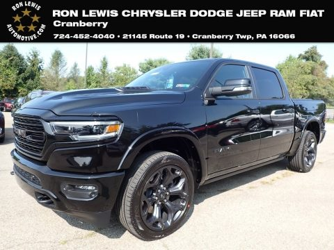 Diamond Black Crystal Pearl Ram 1500 Limited Crew Cab 4x4.  Click to enlarge.