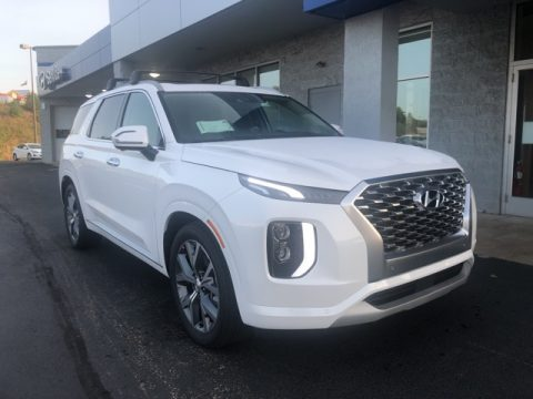 Hyper White Hyundai Palisade Limited AWD.  Click to enlarge.