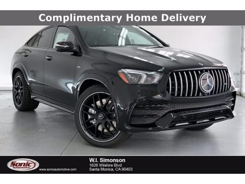 Obsidian Black Metallic Mercedes-Benz GLE 53 AMG 4Matic Coupe.  Click to enlarge.