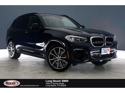 Carbon Black Metallic BMW X3 sDrive30i.  Click to enlarge.