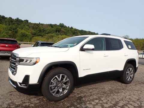 Summit White GMC Acadia SLT AWD.  Click to enlarge.