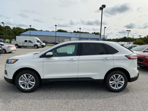 Star White Metallic Tri-Coat Ford Edge SEL AWD.  Click to enlarge.