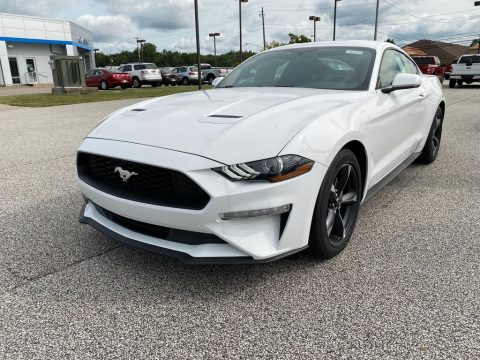 Oxford White Ford Mustang EcoBoost Premium Fastback.  Click to enlarge.