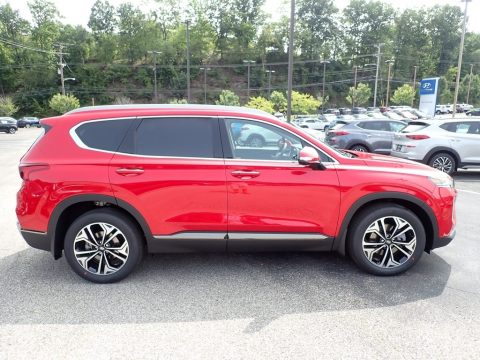 Calypso Red Hyundai Santa Fe Limited 2.0 AWD.  Click to enlarge.