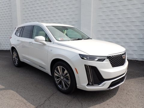 Crystal White Tricoat Cadillac XT6 Premium Luxury.  Click to enlarge.