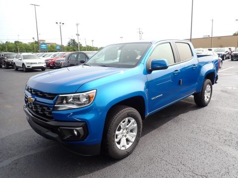Bright Blue Metallic Chevrolet Colorado LT Crew Cab 4x4.  Click to enlarge.