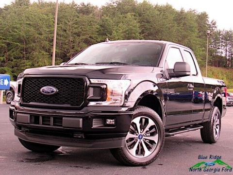 Agate Black Ford F150 XL SuperCab 4x4.  Click to enlarge.