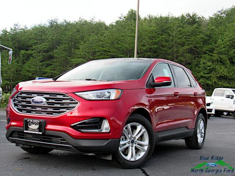 Rapid Red Metallic Ford Edge SEL AWD.  Click to enlarge.