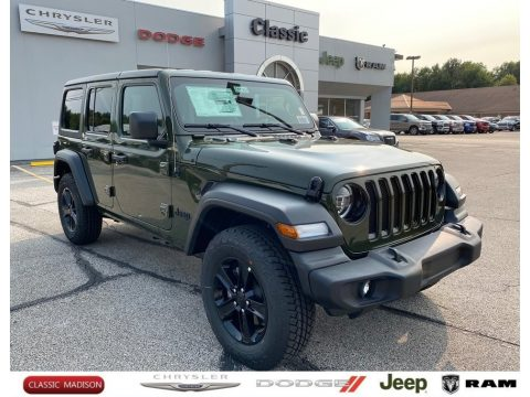 Sarge Green Jeep Wrangler Unlimited Sport 4x4.  Click to enlarge.